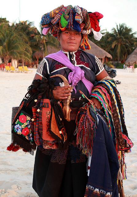 Street vendor in Isla Mujeres